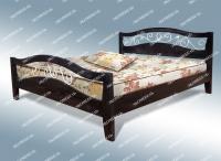 Полутороспальная кровать Алиса с ковкой из дуба