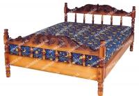 Кровать Точенка Глория (резьба объемная №1) для дачи