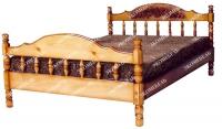 Кровать Точенка Глория (резьба шапкой)  для дачи